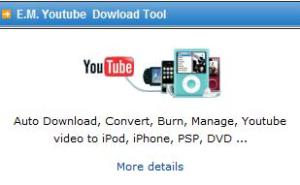 E.M. Youtube Download Tool